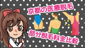 京都の医療脱毛の部分脱毛料金比較